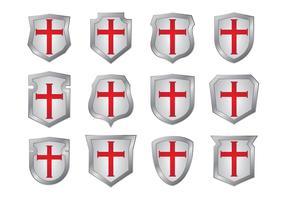 Templar schild vormen vectoren
