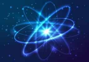 Vector glanzende neonlichten atoom model