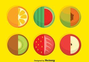 Vector cirkel vruchten