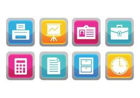 Gratis Office Button Icons vector