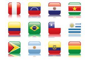 Peru en Zuid-Amerika Vlag vector