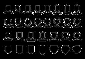 Blason / schild / lint vector sjabloon