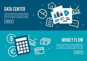 Gratis digitale marketing achtergrond met verschillende icoon collectie vector