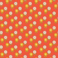 retro gestileerde daisy naadloze patroon