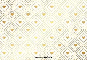 Vector Gouden Patroon Met Gouden Harten