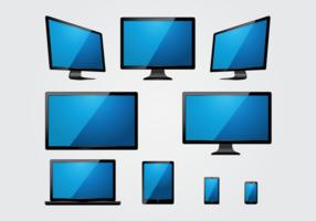Led scherm vector
