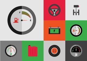 Geoormerkte gratis auto pictogrammen vector