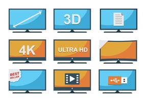 Gratis LED-tv-iconen vector