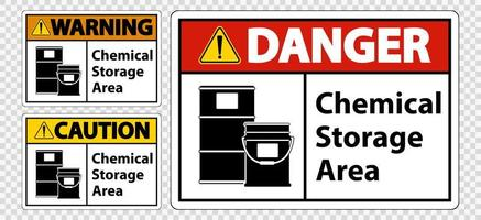 Chemische opslagruimte teken set vector
