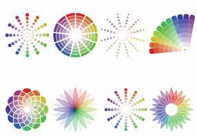 Kleurstalen vector