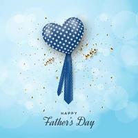 hartballon met stropdas handvat voor vaderdag
