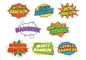 Bangkok stickers vector