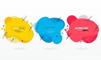 set van kleurrijke moderne geometrische vloeibare vormen