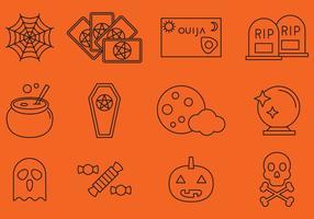 Halloween Lijn Pictogrammen