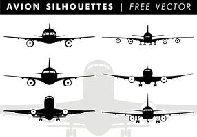 Avion Silhouetten Gratis Vector