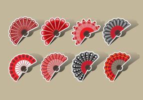 Spaanse Ventilator Vector Pictogrammen