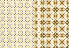 Geel motiefpatroon vector