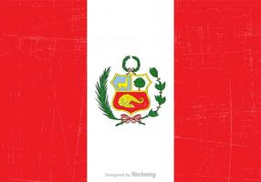 Gratis Grunge Peru State Flag Vector