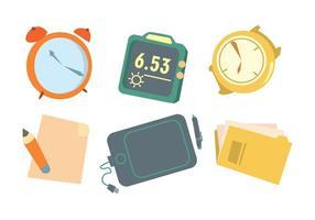 Tijd Is Geld Vector Set