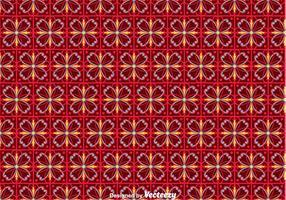 Bloem Portugees Tegels Patroon vector
