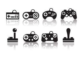 Gratis Minimalistische Gaming Joystick Pictogrammen vector