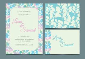 Vector Pastel Bruiloft Uitnodigen