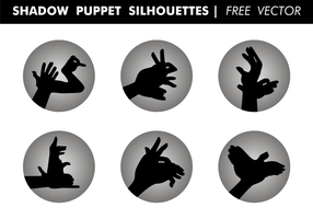 Shadow Puppet Silhouettes Gratis Vector