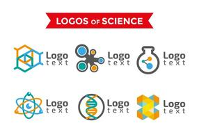 Neuron science logos templates vector