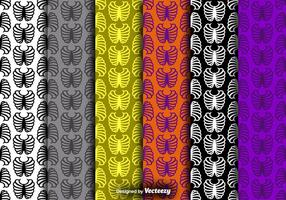 Rib Cage Icon Kleurrijke Naadloze Patronen Vector Set