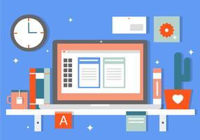 Gratis Flat Business Office Vector Elementen