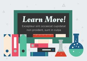 Gratis Flat Education Vector Illustratie