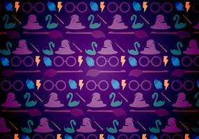 Harry potter magisch patroon vector