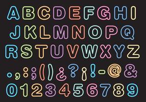 Neon type vector