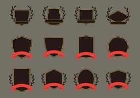 Blason Template icon set