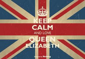 Gratis Vector Blijf Kalm En Liefde Koningin Elizabeth