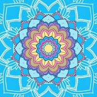mandala op blauwe achtergrond vector