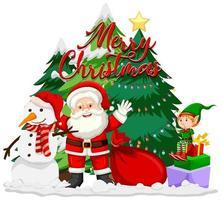 kerstman en elf vector