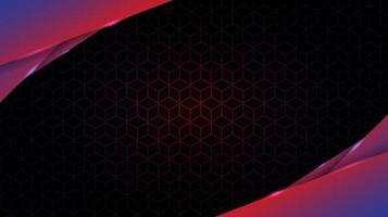 gloeiende gradiënt gelaagde schuine vormen over kubuspatroon