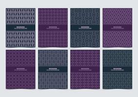 blauw en paars patroon cover set