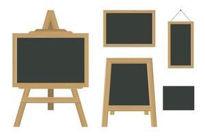 set schoolbord in verschillende maten vector
