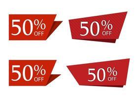 speciale verkoop korting sticker geïsoleerd op een witte achtergrond