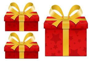 stijlvolle geschenkdoos geïsoleerd op een witte achtergrond vector