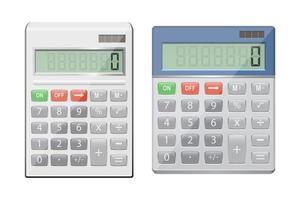realistische rekenmachine geïsoleerd op een witte achtergrond