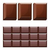chocoladereep die op witte achtergrond wordt geïsoleerd vector