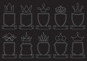 Blason lijn iconen vector