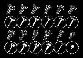 Schroeven / Noten / Nail Vector Icon