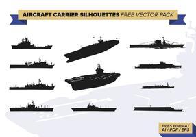 Vliegtuigdrager Silhouetten Gratis Vector Pakket