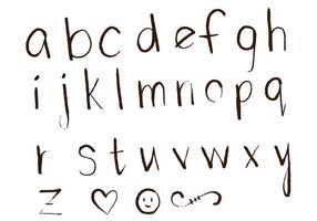 Letras Letters Alfabet Set D vector
