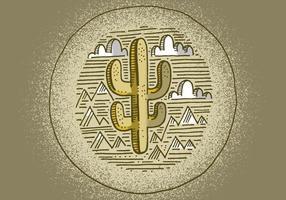 Zuidwestelijke cactus badge vector