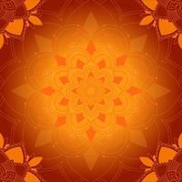oranje mandala patroon vector